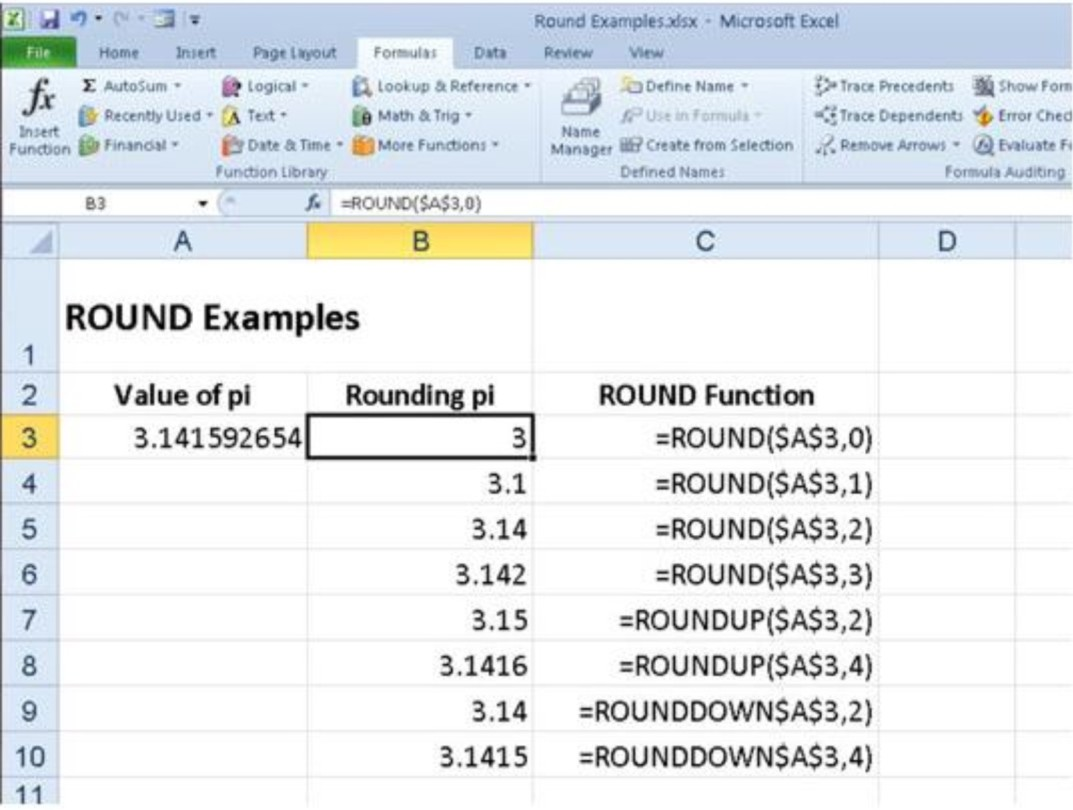 How to make an excel formula absolute - How To Roundup And Rounddown Numbers Using Excel