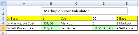 how to calculate a markup percentage 2018