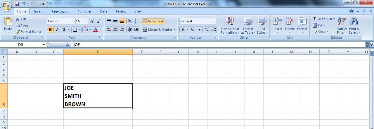 windows how to put files into single row